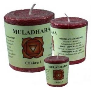 Chakra Votive Candle - 1st Chakra - Base - Red - Cassia, Nutmeg and Cloves